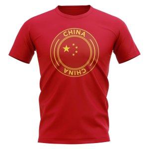 China Football Badge T-Shirt (Red)