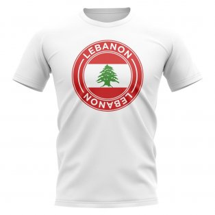 Lebanon Football Badge T-Shirt (White)
