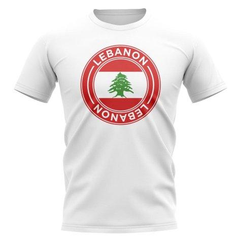 Lebanon Football Badge T-Shirt (White)