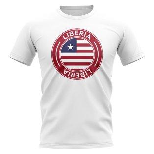 Liberia Football Badge T-Shirt (White)