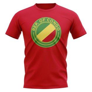 Congo Republic Football Badge T-Shirt (Red)