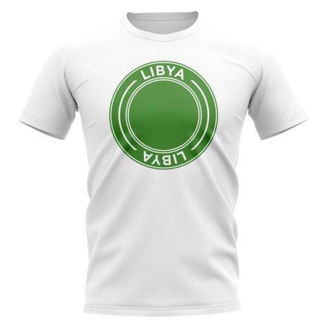 Libya Football Badge T-Shirt (White)