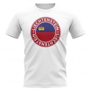 Liechtenstein Football Badge T-Shirt (White)