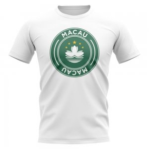 Macau Football Badge T-Shirt (White)