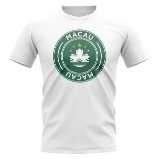 Macau Football Badge T-Shirt (White)