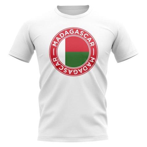 Madagascar Football Badge T-Shirt (White)