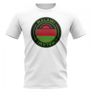 Malawi Football Badge T-Shirt (White)