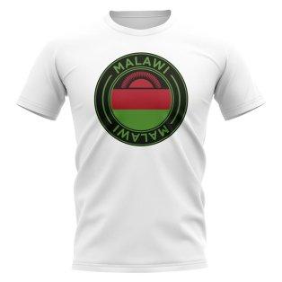 Malawi Football Badge T-Shirt (White)