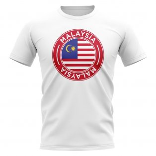 Malaysia Football Badge T-Shirt (White)