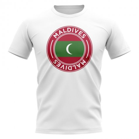 Maldives Football Badge T-Shirt (White)