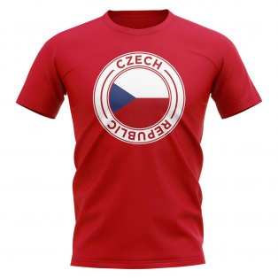 Czech Republic Football Badge T-Shirt (Red)