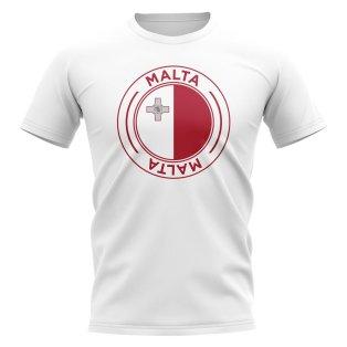 Malta Football Badge T-Shirt (White)