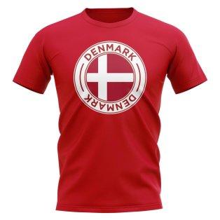 Denmark Football Badge T-Shirt (Red)
