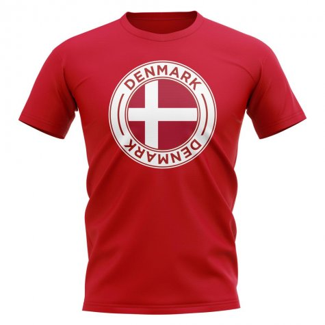 Denmark Football Badge T-Shirt (Red)
