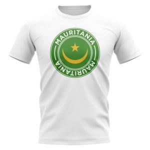 Mauritania Football Badge T-Shirt (White)