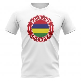 Mauritius Football Badge T-Shirt (White)