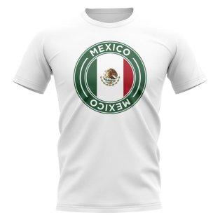 Mexico Football Badge T-Shirt (White)