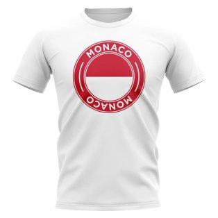 Monaco Football Badge T-Shirt (White)