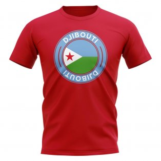 Djibouti Football Badge T-Shirt (Red)