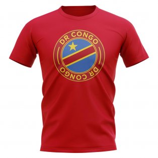 Dr Congo Football Badge T-Shirt (Red)