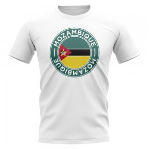 Mozambique Football Badge T-Shirt (White)