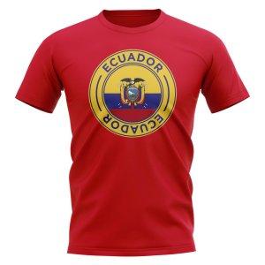 Ecuador Football Badge T-Shirt (Red)