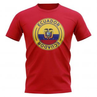 Ecuador Football Badge T-Shirt (Red)