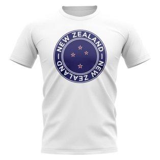 New Zealand Football Badge T-Shirt (White)