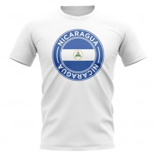 Nicaragua Football Badge T-Shirt (White)