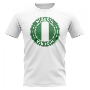 Nigeria Football Badge T-Shirt (White)