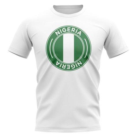 Nigeria Football Badge T-Shirt (White)