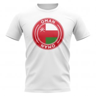 Oman Football Badge T-Shirt (White)
