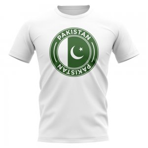 Pakistan Football Badge T-Shirt (White)