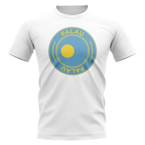 Palau Football Badge T-Shirt (White)