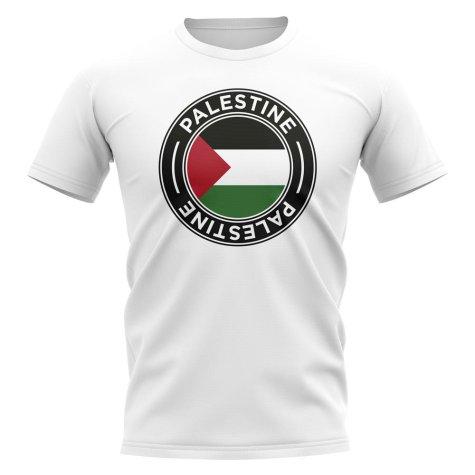 Palestine Football Badge T-Shirt (White)