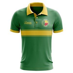 Benin Concept Stripe Polo Shirt (Green)