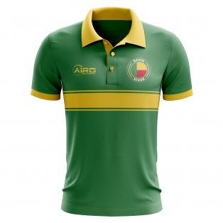 Benin Concept Stripe Polo Shirt (Green)
