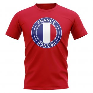 France Football Badge T-Shirt (Red)