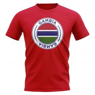 Gambia Football Badge T-Shirt (Red)