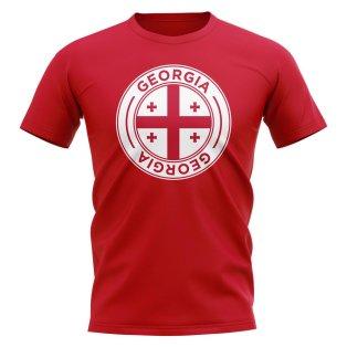 Georgia Football Badge T-Shirt (Red)