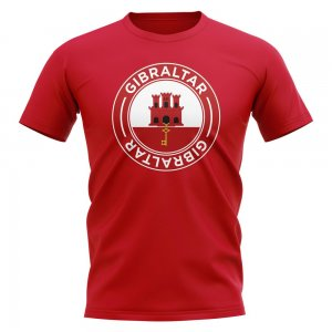 Gibraltar Football Badge T-Shirt (Red)