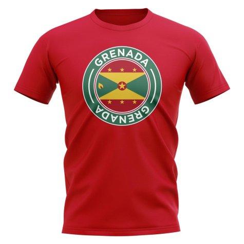 Grenada Football Badge T-Shirt (Red)