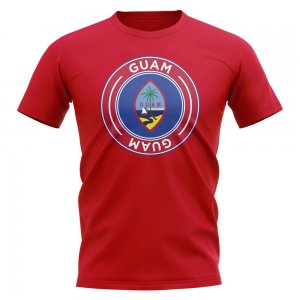 Guam Football Badge T-Shirt (Red)
