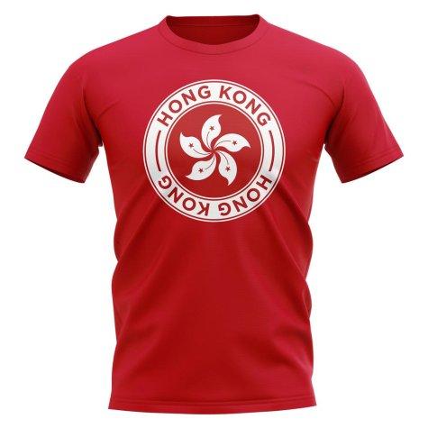 Hong Kong Football Badge T-Shirt (Red)