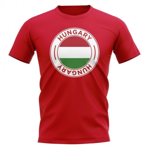 Hungary Football Badge T-Shirt (Red)