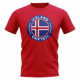 Iceland Football Badge T-Shirt (Red)