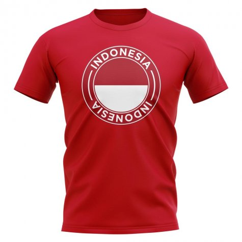 Indonesia Football Badge T-Shirt (Red)