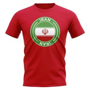 Iran Football Badge T-Shirt (Red)
