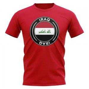 Iraq Football Badge T-Shirt (Red)