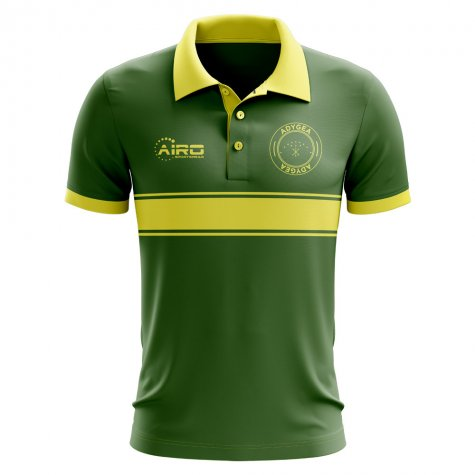 Adygea Concept Stripe Polo Shirt (Green) - Kids